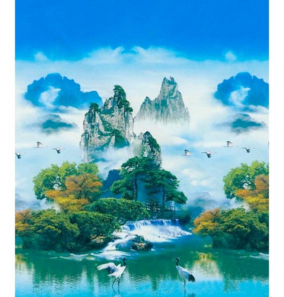 Tranh gắn đá Sơn Thủy Kì Vỹ XING7896