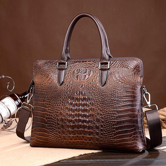 Túi xách nam da cá sấu mạnh mẽ sang trọng và lịch lãm