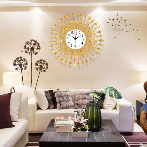 Đồng hồ treo tường mặt trời thương hiệu Bisa BS60006MT