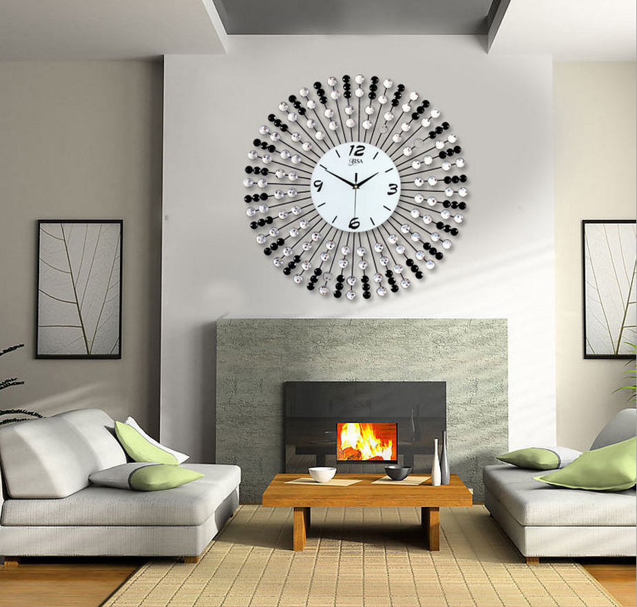 Đồng hồ treo tường hạt pha lê cho không gian đặc biệt sang trọng BS60012