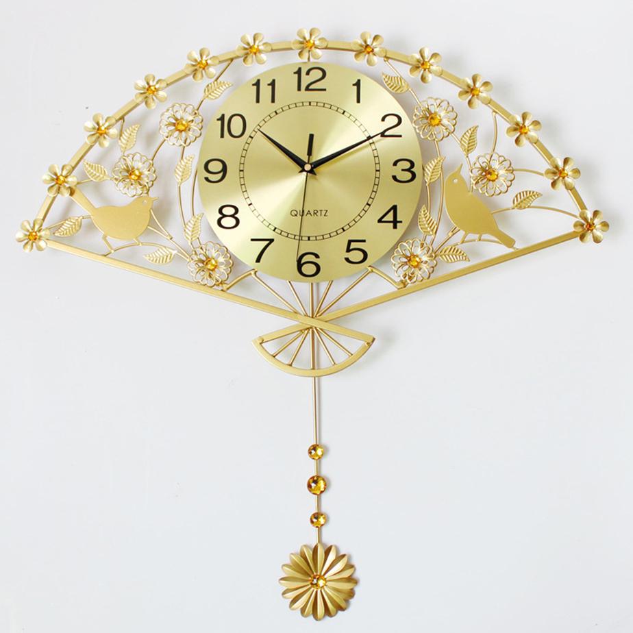 Đồng hồ trang trí hình quạt bắt mắt- Bảo hành lên tới 5 năm YH1517