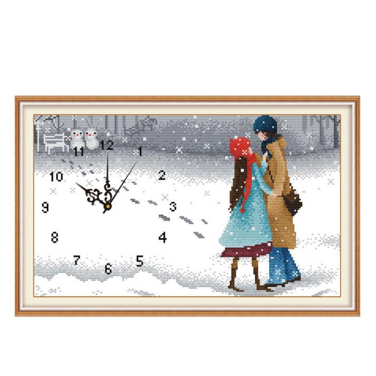 Tranh thêu chữ thập thành phẩm tình nhân mùa đông YG-043
