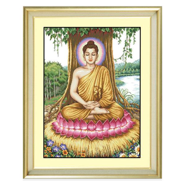 Tranh thêu chữ thập thành phẩm Phật YR-007