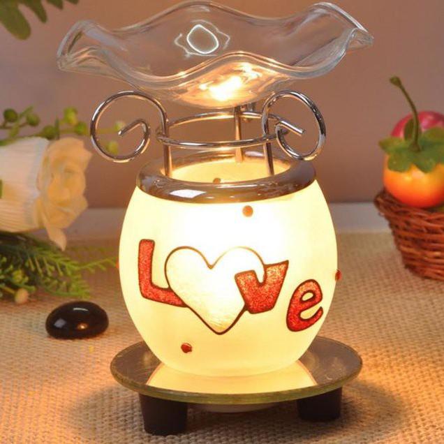 Đèn tinh dầu tình yêu với 2 chức năng vừa làm đèn ngủ và đèn xông hương