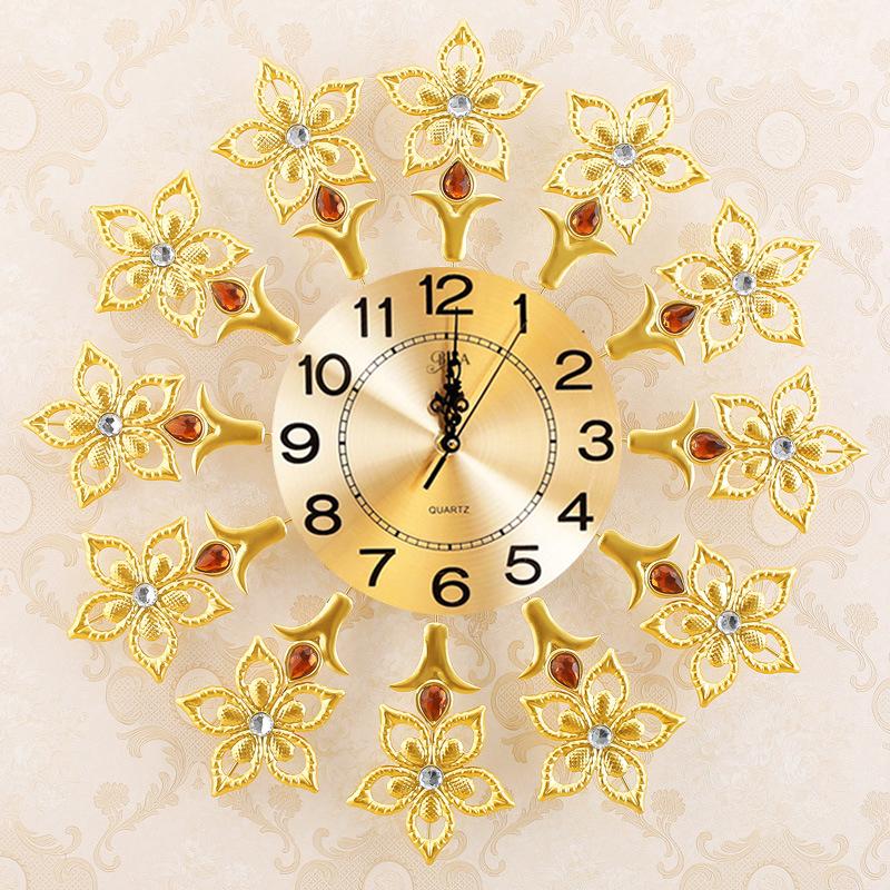 Đồng hồ treo tường hoa pha lê cho không gian thêm ấn tượng BS6690-75
