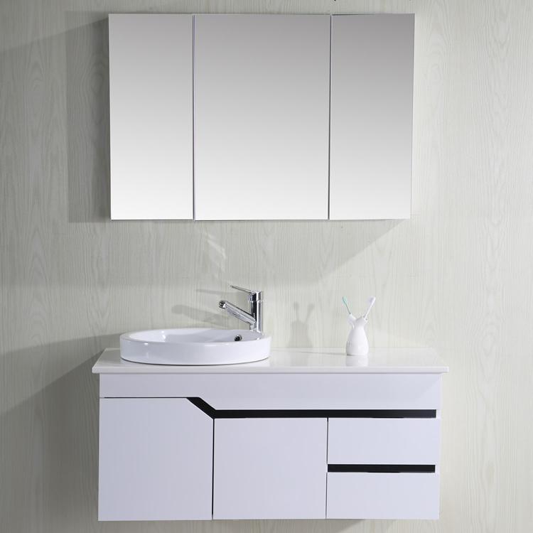 Bộ tủ chậu vòi gương sang trọng hiện đại, với chất liệu PVC chịu nước siêu bền 2306