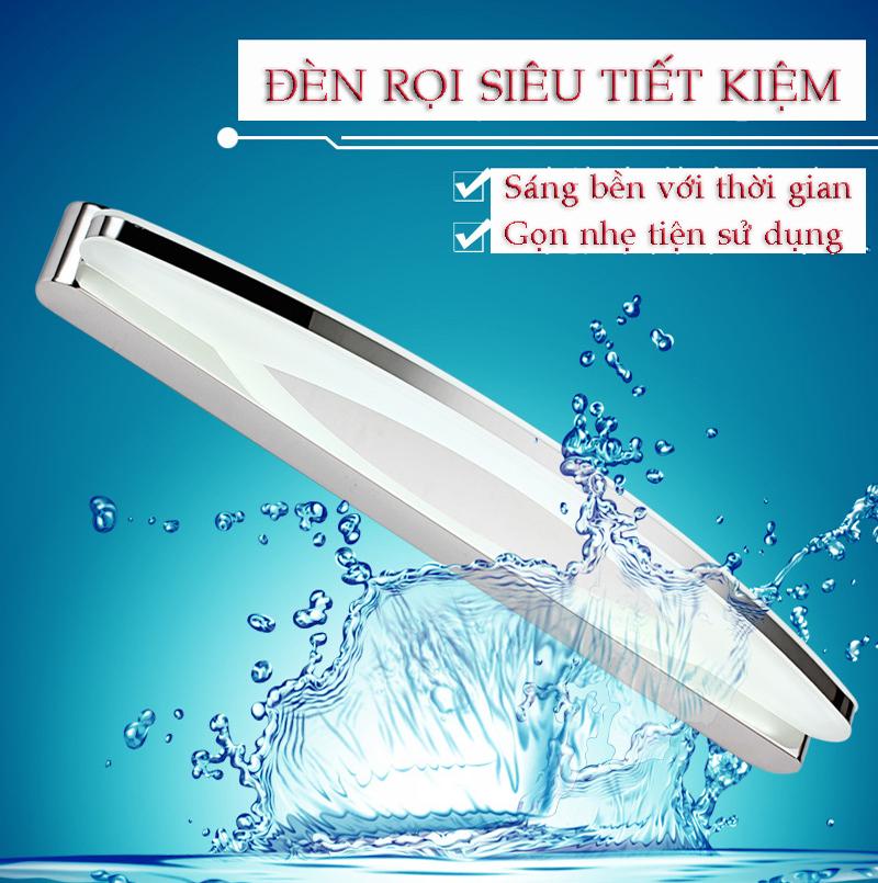 Đèn rọi siêu tiết kiệm điện cho phòng tắm hiện đại sáng dịu