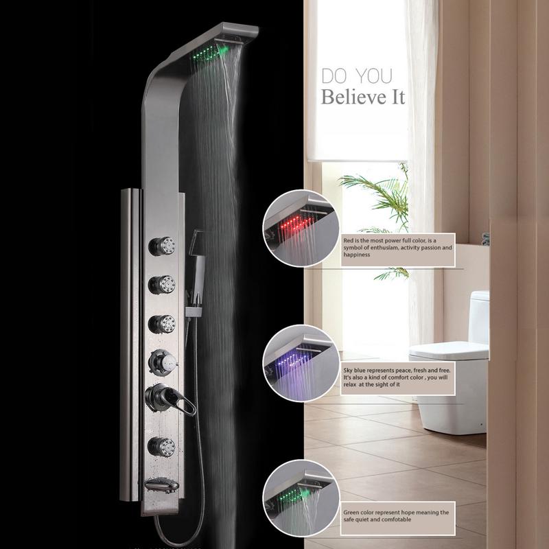 Vòi hoa sen Massage cao cấp INOX YF-002 thiết kế sang trọng mang lại sự hoàn hảo cho phòng tắm