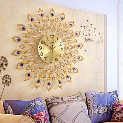 Đồng hồ treo tường đuôi công đậm chất nghệ thuật tạo nên nét riêng cho không gian nhà bạn BS60003-90