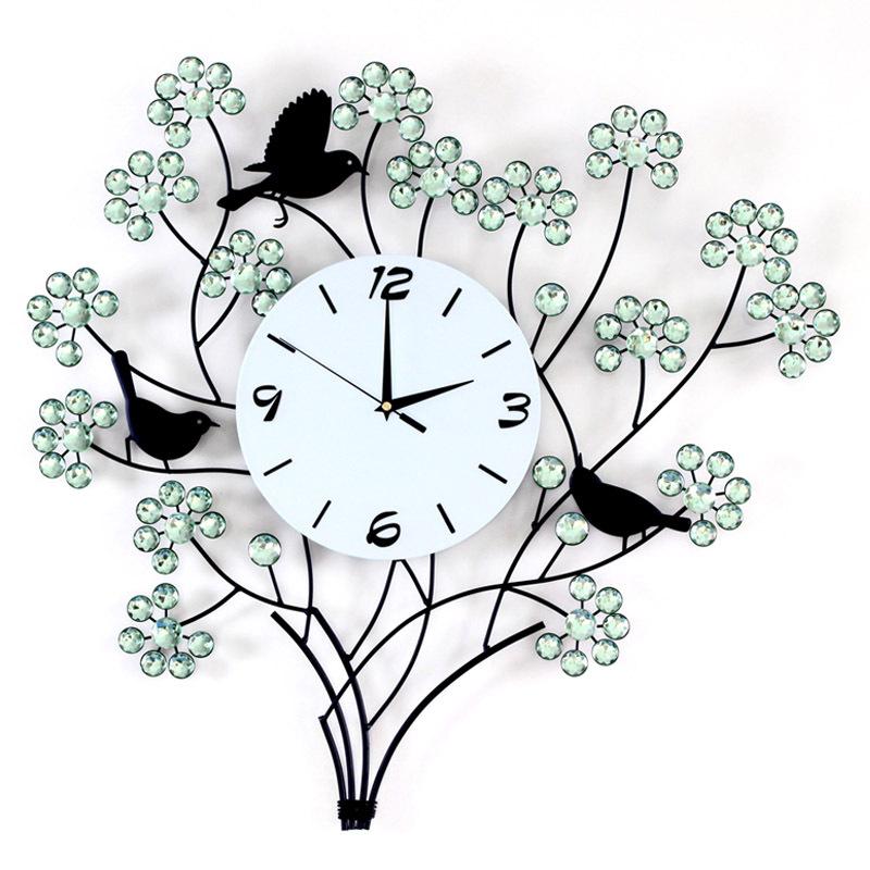 mẫu tranh đồng hồ trang trí chim én 1015