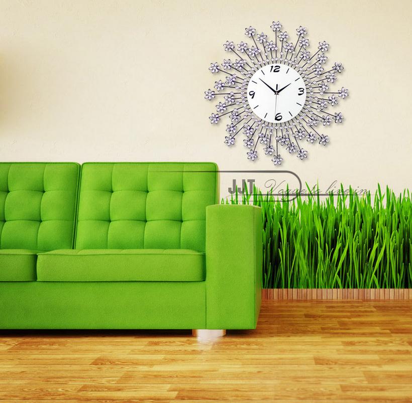 đồng hồ treo tường hoa pha lê 12