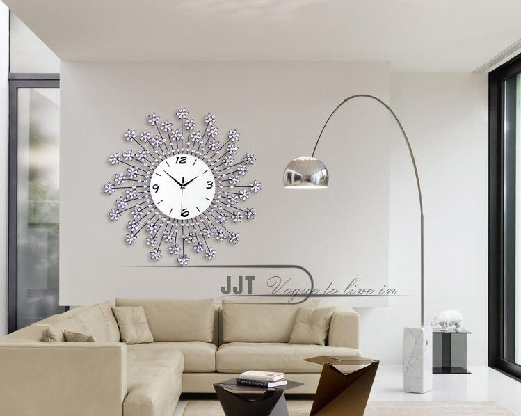 đồng hồ treo tường hoa pha lê 14