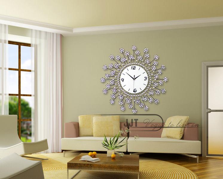 đồng hồ treo tường hoa pha lê 15