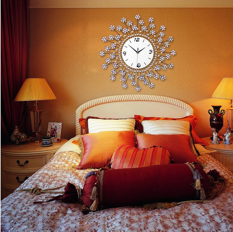 đồng hồ treo tường hoa pha lê 20