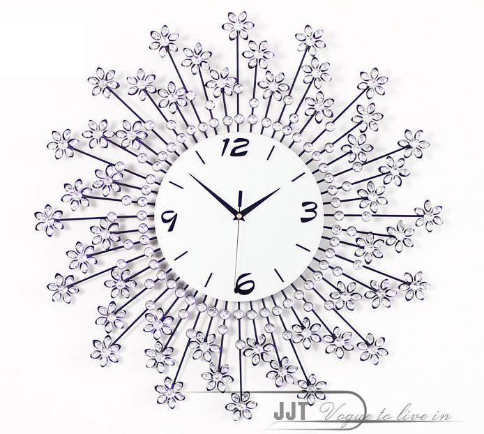 đồng hồ treo tường hoa pha lê 6