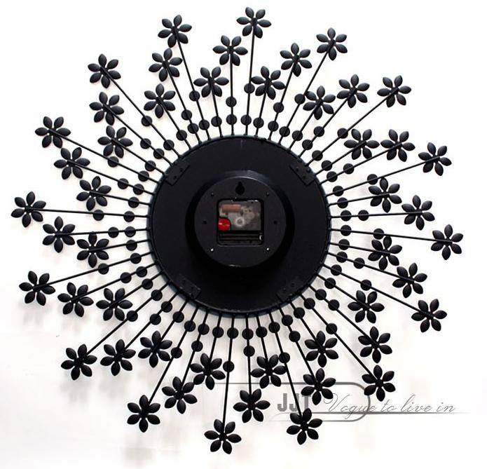 đồng hồ treo tường hoa pha lê 8