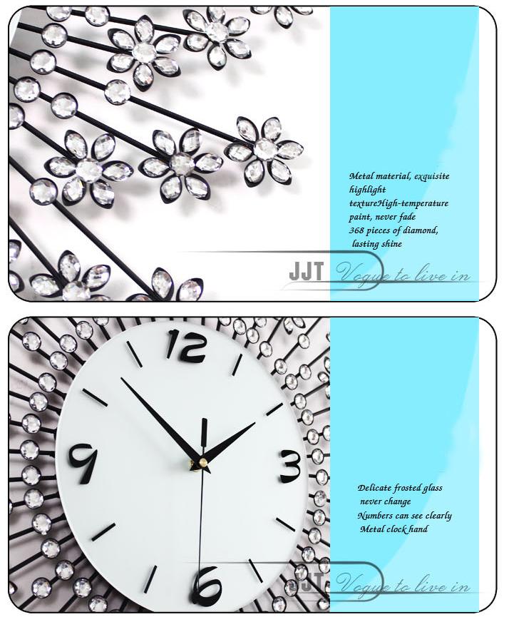 đồng hồ treo tường hoa pha lê 10