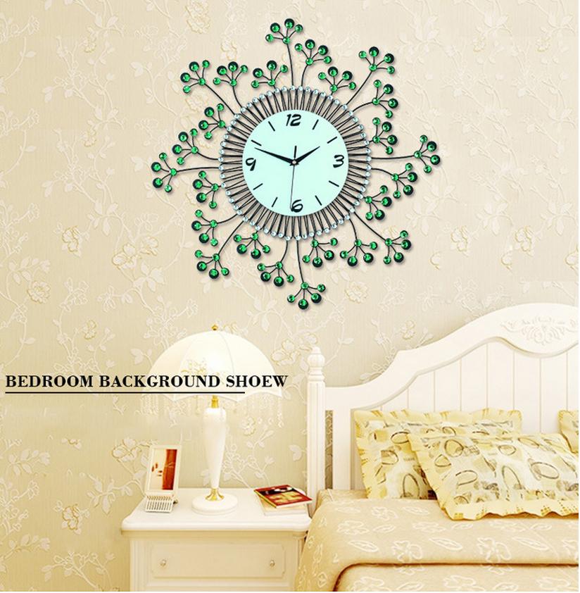 đồng hồ treo tường hoa pha lê đẹp jt1383 ảnh 10