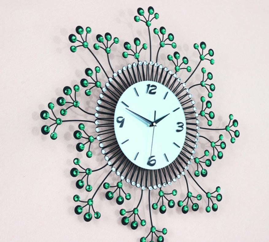 đồng hồ treo tường hoa pha lê đẹp jt1383 ảnh 2
