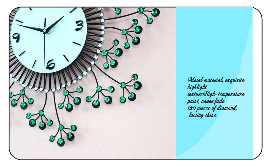 đồng hồ treo tường hoa pha lê đẹp jt1383 ảnh 3