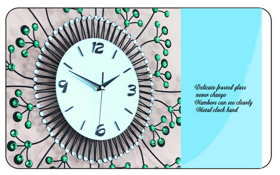 đồng hồ treo tường hoa pha lê đẹp jt1383 ảnh 4