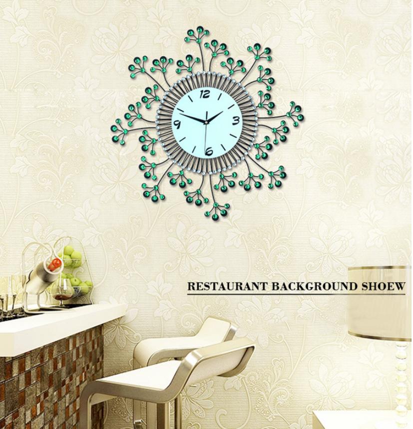 đồng hồ treo tường hoa pha lê đẹp jt1383 ảnh 1