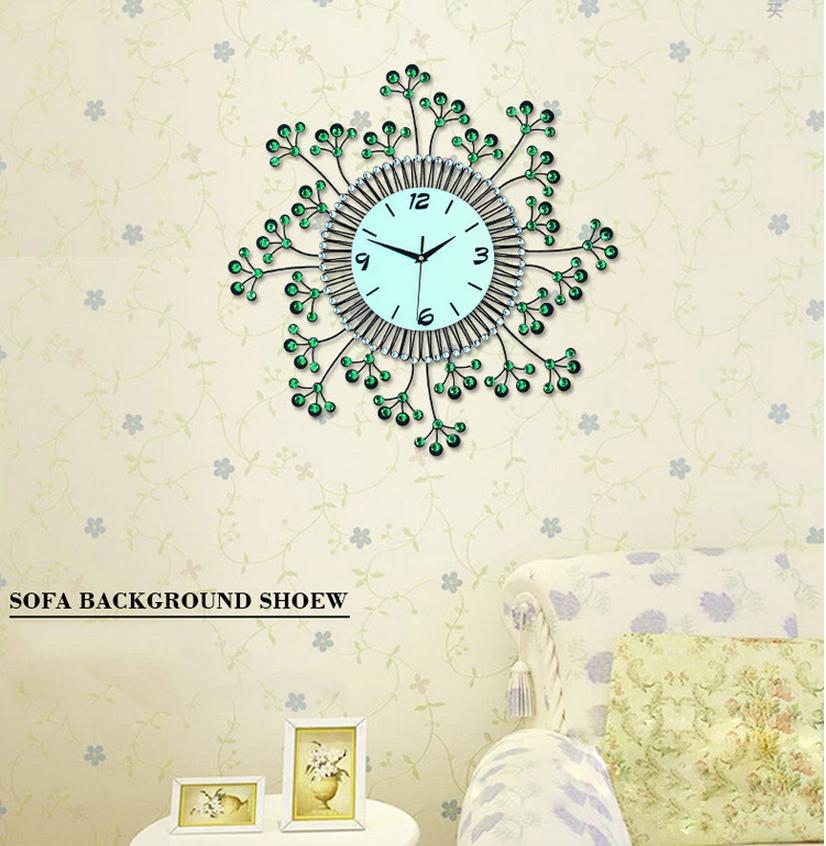 đồng hồ treo tường hoa pha lê đẹp jt1383 ảnh 8