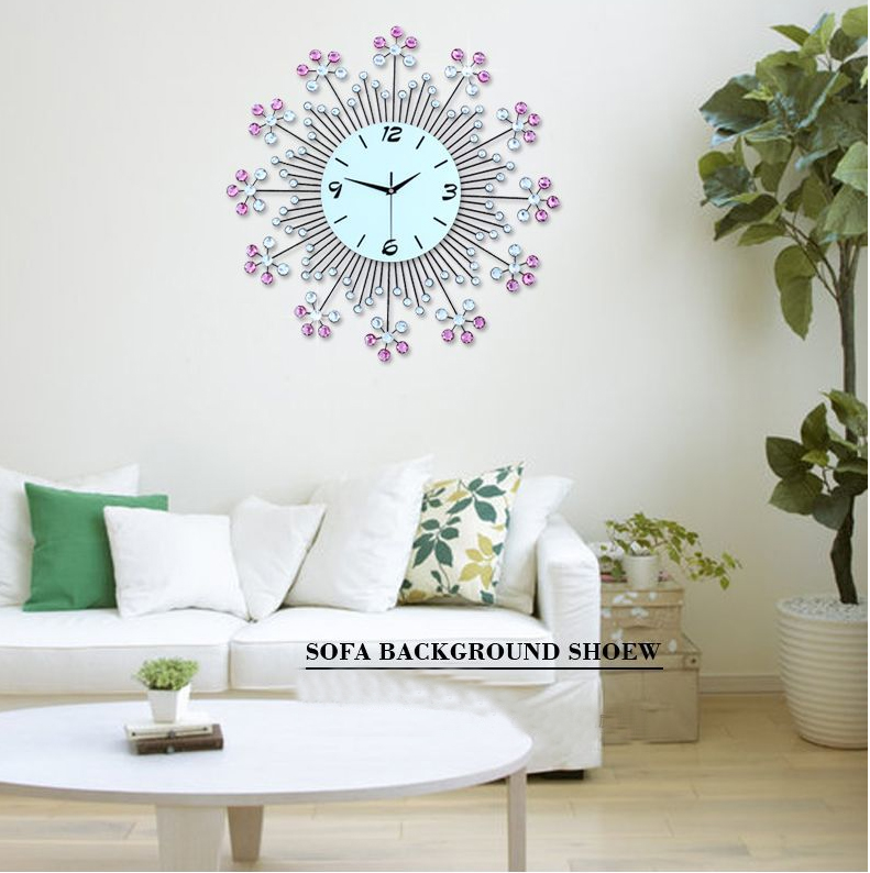 đồng hồ trang trí bằng pha lê hình hoa ảnh 10