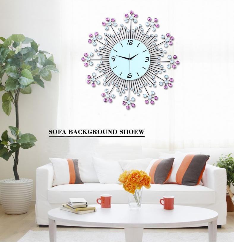 đồng hồ trang trí bằng pha lê hình hoa ảnh 7