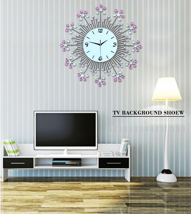 đồng hồ trang trí bằng pha lê hình hoa ảnh 9
