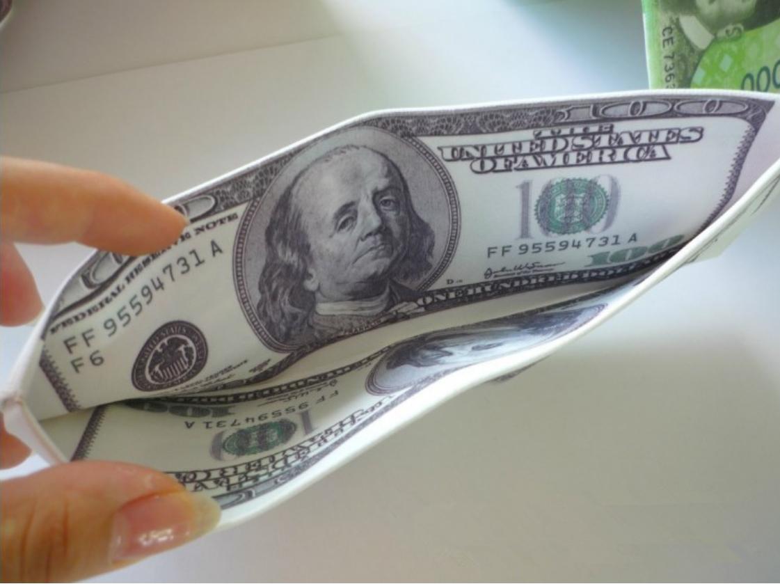 mẫu ví da đô la mỹ