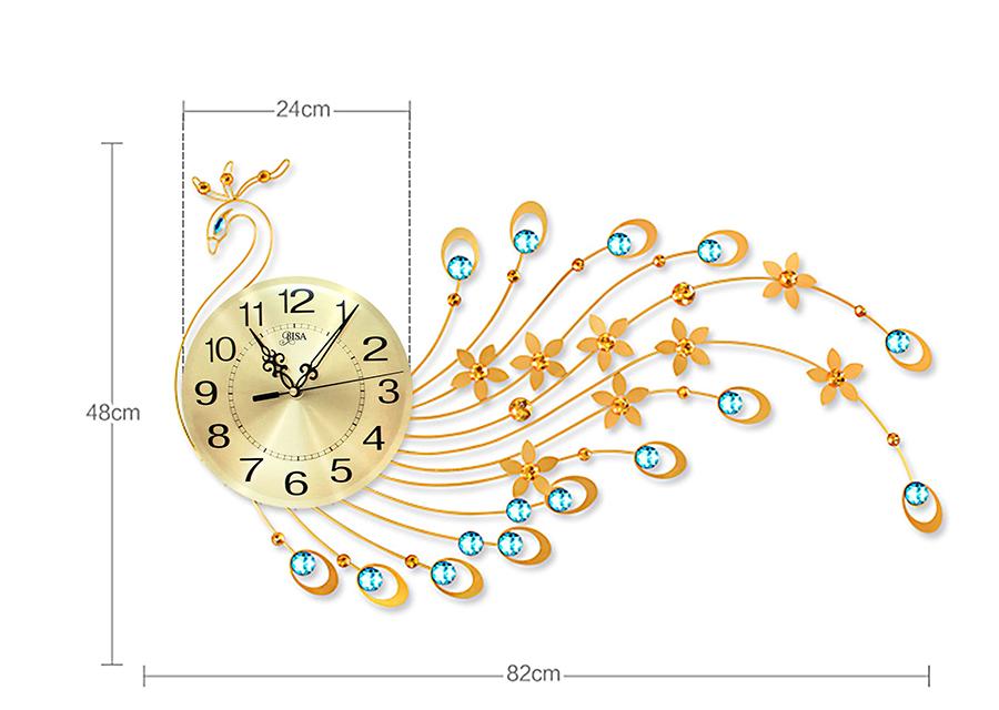 đồng hồ treo tường công vàng 4