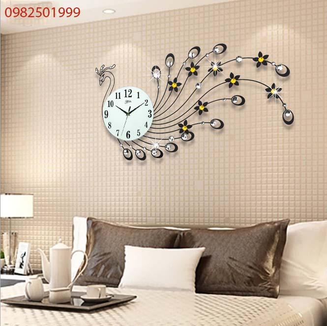 đồng hồ treo tường chim khổng tước